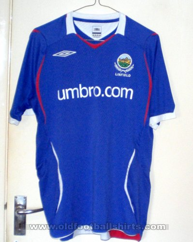 Linfield Home football shirt 2008 - 2009