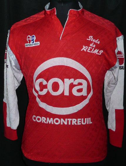 Stade De Reims Home Football Shirt 1989 1990