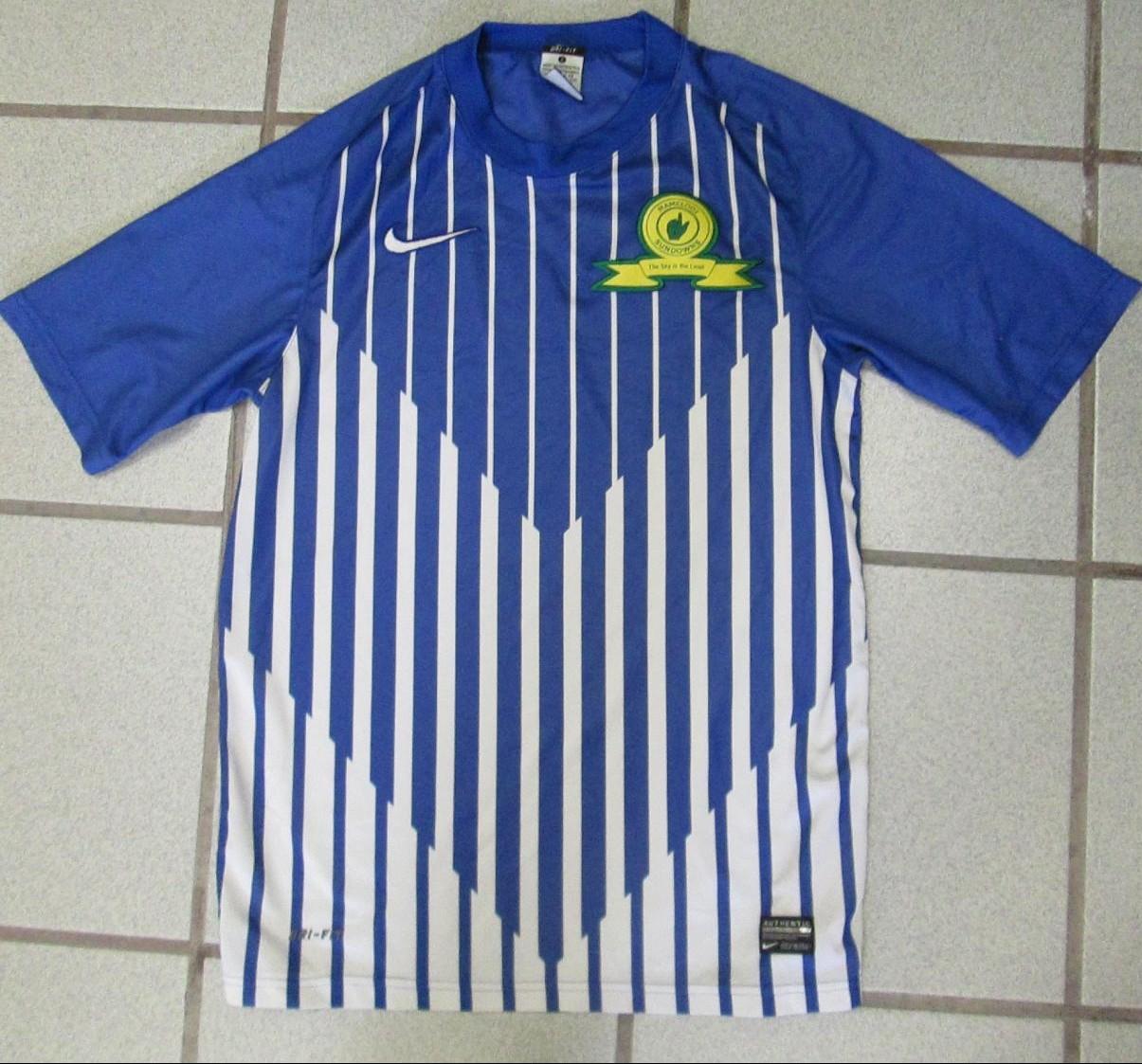 Fußball-Trikots Nike Herren Mamelodi Sundowns FC Home Trikot 2009 2010 Heimtrikot gelb Größe XL