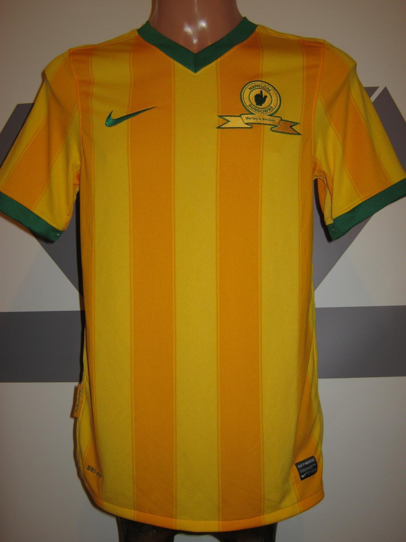 Afrikanische Vereine Fußball-Trikots Nike Herren Mamelodi Sundowns FC Home Trikot 2009 2010 Heimtrikot gelb Größe XL