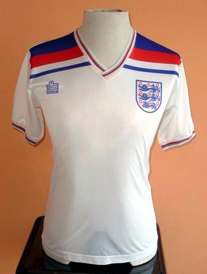 10f718c42 England Home maglia di calcio 1980 - 1983.