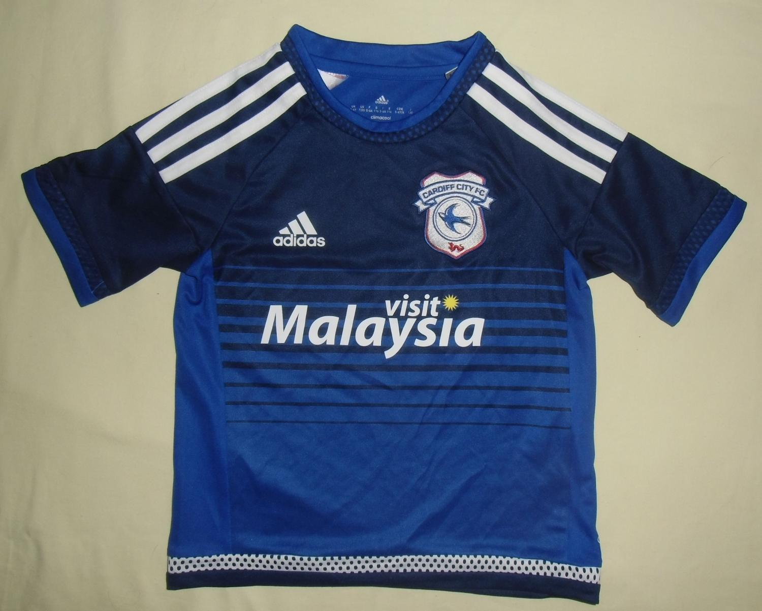 e590713acba Cardiff City Home maglia di calcio 2015 - 2016. Sponsored by Visit ...
