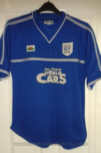 Cardiff City Home football shirt 2001 - 2002