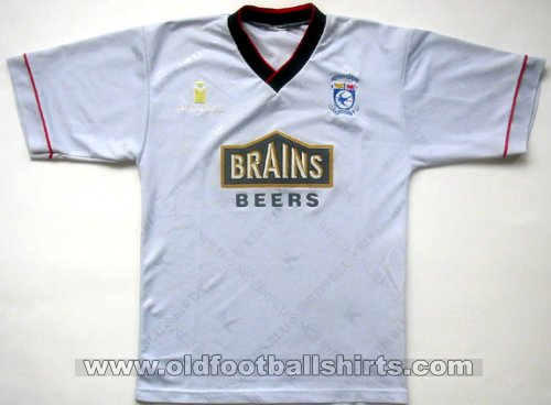 Cardiff City Away - CLASSIC for sale football shirt 1995 - 1996