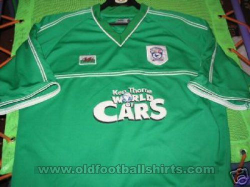 Cardiff City Away football shirt 2001 - 2002