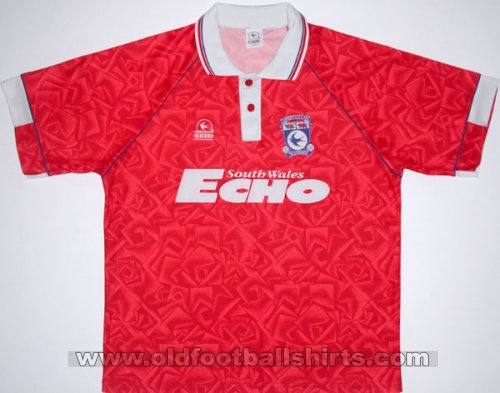Cardiff City Away football shirt 1992 - 1993