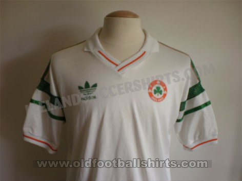 Republic of Ireland Uit  voetbalshirt  1988 - 1989