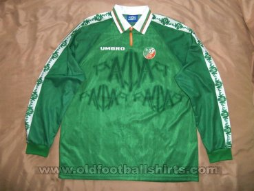 Republic of Ireland Home football shirt 1996 - 1998