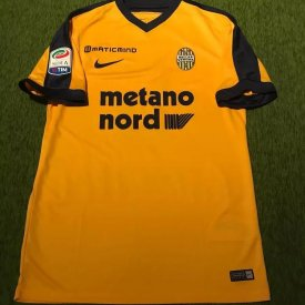 Hellas Verona F.C. Away football shirt 2017 - 2018 sponsored by Metano Nord