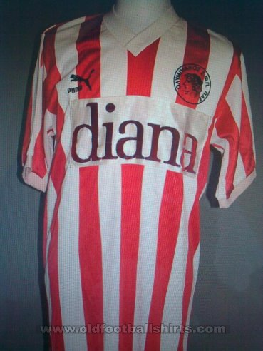 Olympiacos Home football shirt 1990 - 1991