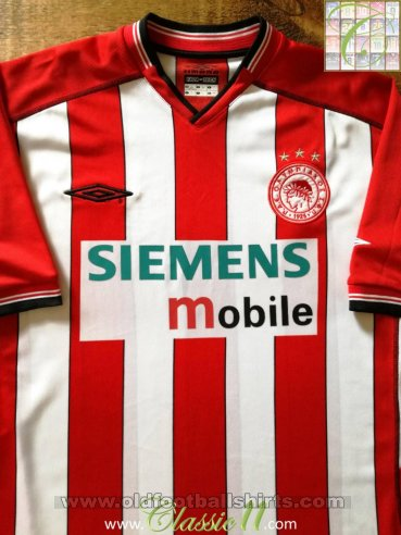 Olympiacos Home football shirt 2002 - 2004