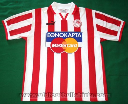 Olympiacos Home football shirt 1996 - 1997