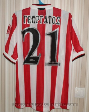 Olympiacos Home voetbalshirt  2000 - 2001