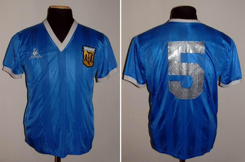 Argentina Away football shirt 1986.