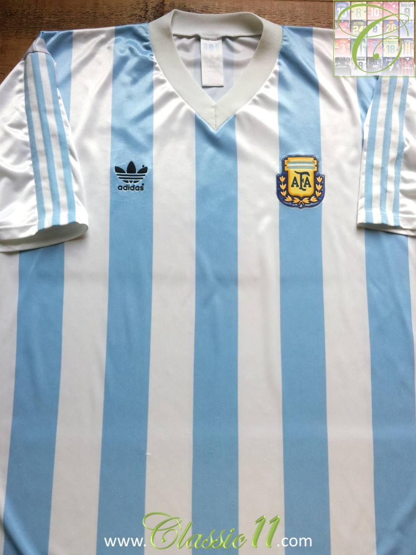 a6f1d5ddb Argentina Home Maillot de foot 1990 - 1991.