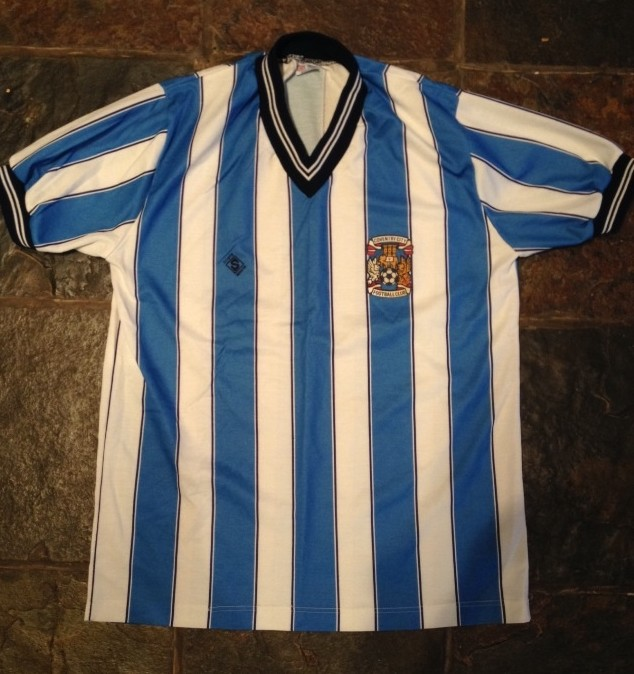 Coventry City 86-87 Retro Kit Football Cushion