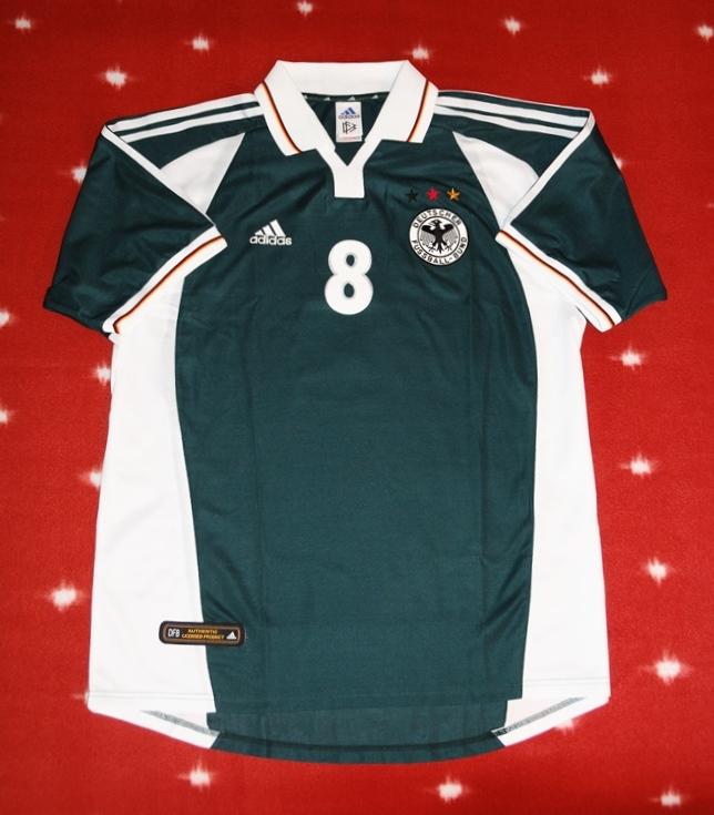 6e0309a1059 Germany Away camisa de futebol 2000 - 2002.