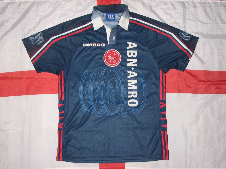 Ajax Maglia di Coppa maglia di calcio 1996 - 1997.