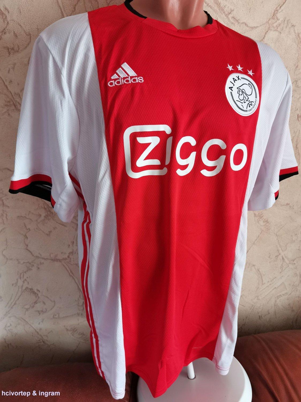 Ajax Home maglia di calcio 2019 - 2020. Sponsored by Ziggo