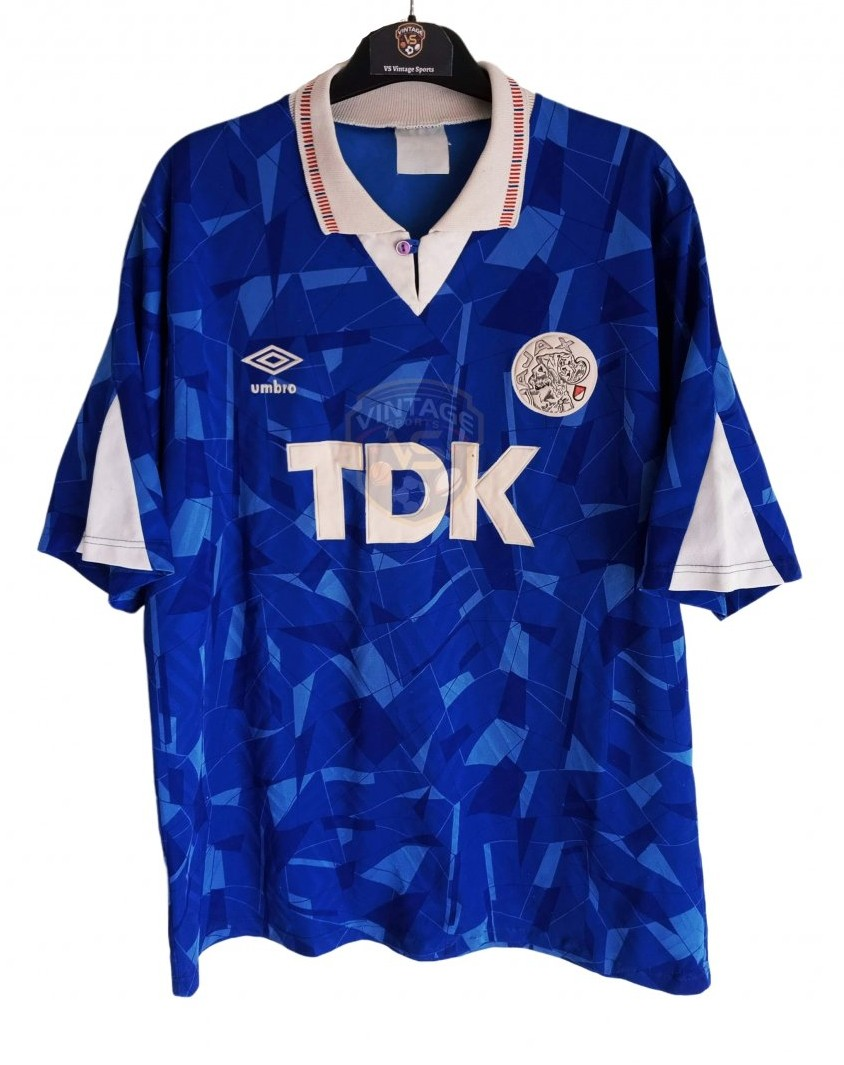 Ajax Away football shirt 1990 - 1991. Sponsored by TDK