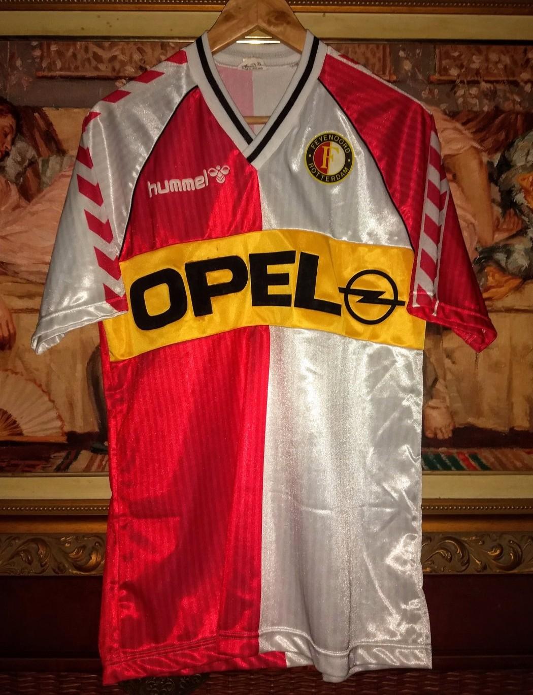 Feyenoord Home Football Shirt 1987 1989 Sponsored By Opel