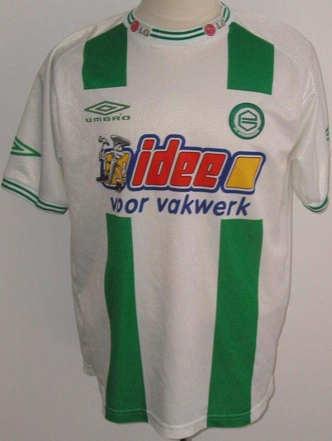 Fc Groningen Home Football Shirt 2001 2002 Sponsored By Idee Voor Vakwerk