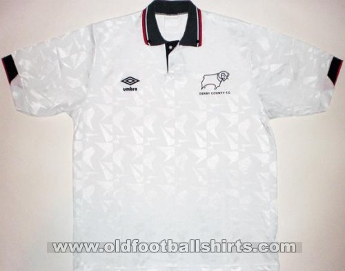 Derby County Home football shirt 1990 - 1991