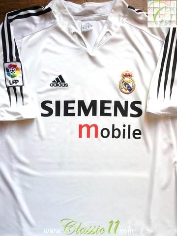 b920adbb2 ... Real Madrid Home voetbalshirt 2004 - 2005