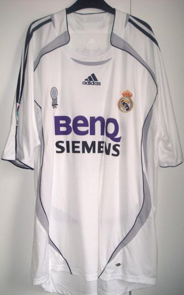 a754989c8 Real Madrid Home voetbalshirt 2006 - 2007 ...