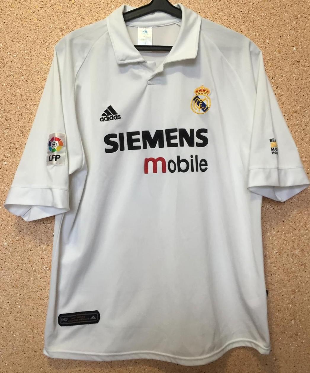 Real Madrid Home maglia di calcio 2002 - 2003.