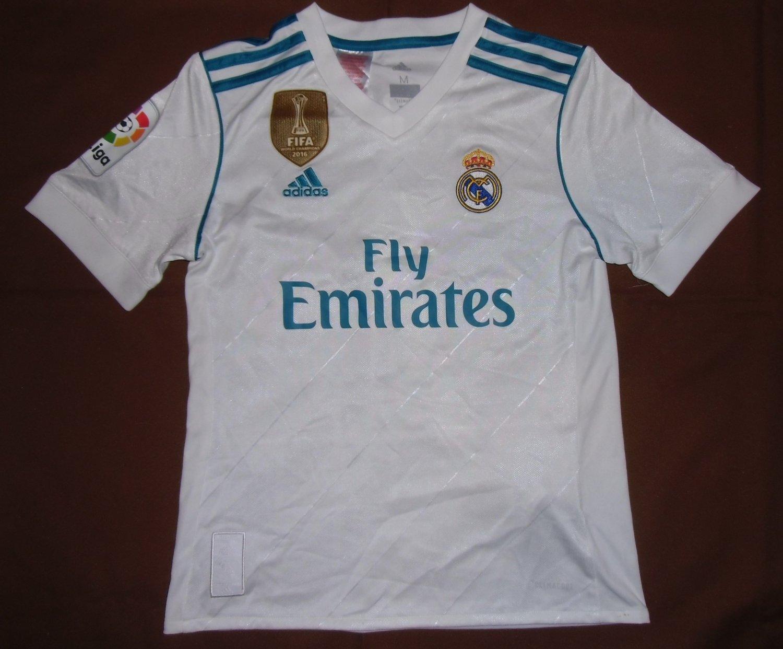 Real Madrid Home maglia di calcio 2017 - 2018. Sponsored by Emirates