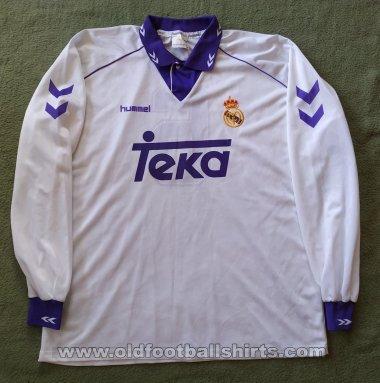 Real Madrid Home maglia di calcio 1993 - 1994. Sponsored by Teka