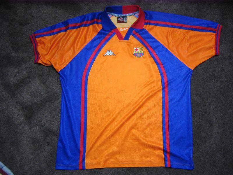 the latest 5a2c6 531e4 Barcelona Away camisa de futebol 1997 - 1998.