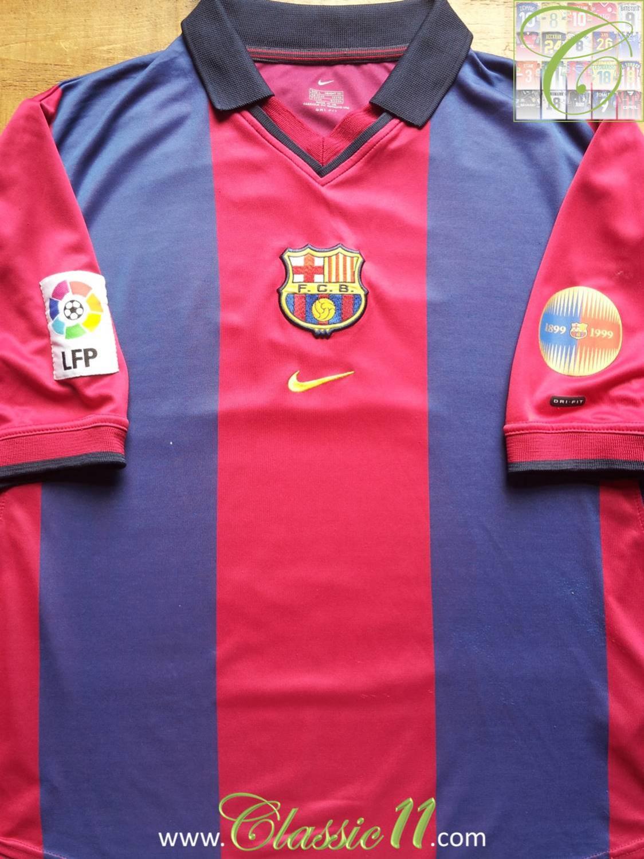 Barcelona Home maglia di calcio 2000 - 2001.
