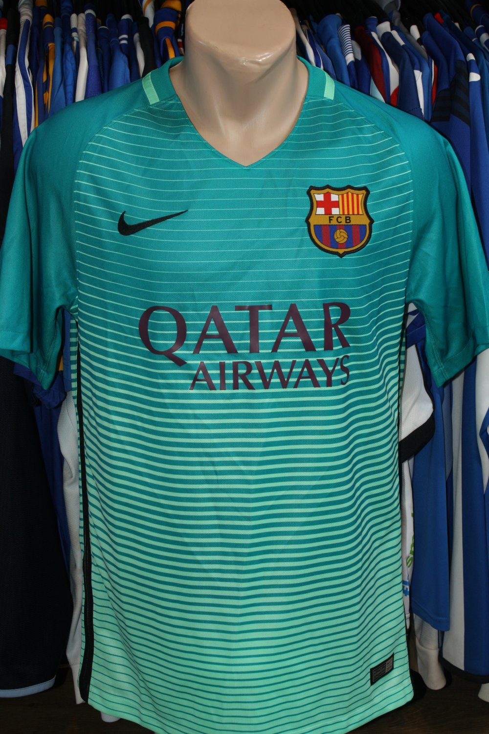 Barcelona Third Football Shirt 2016 2017 Sponsored By Qatar Airways