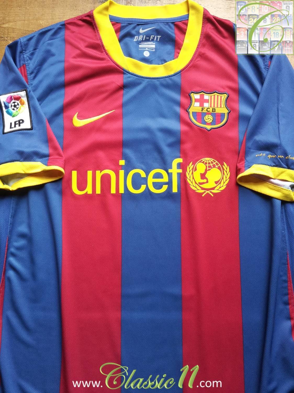 Barcelona Home football shirt 2010 - 2011.