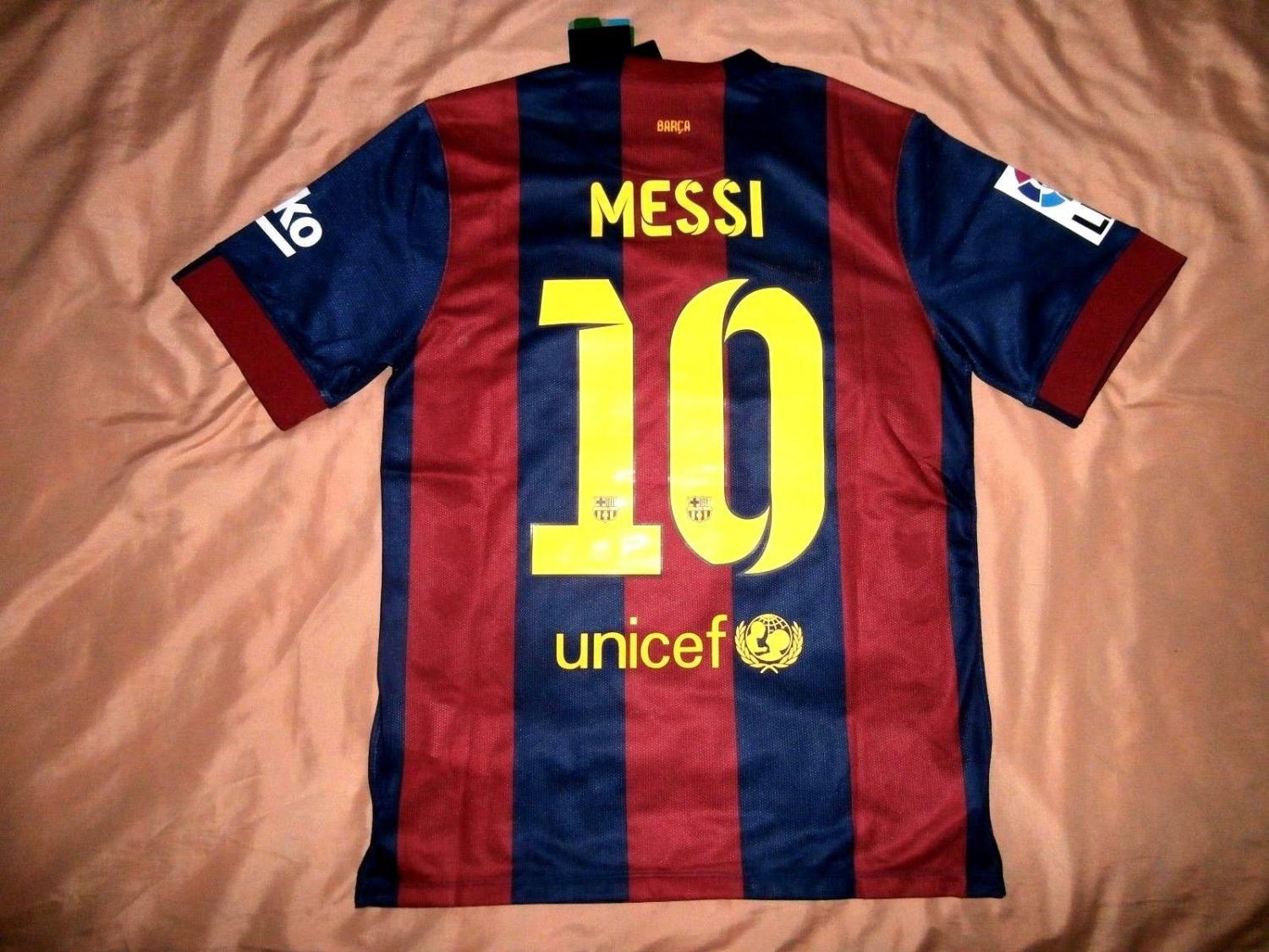 outlet store 18ff0 aff63 Barcelona Home football shirt 2014 - 2015. Sponsored by ...