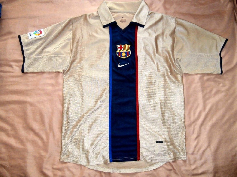 Barcelona Maglia da trasferta maglia di calcio 2001 - 2003.