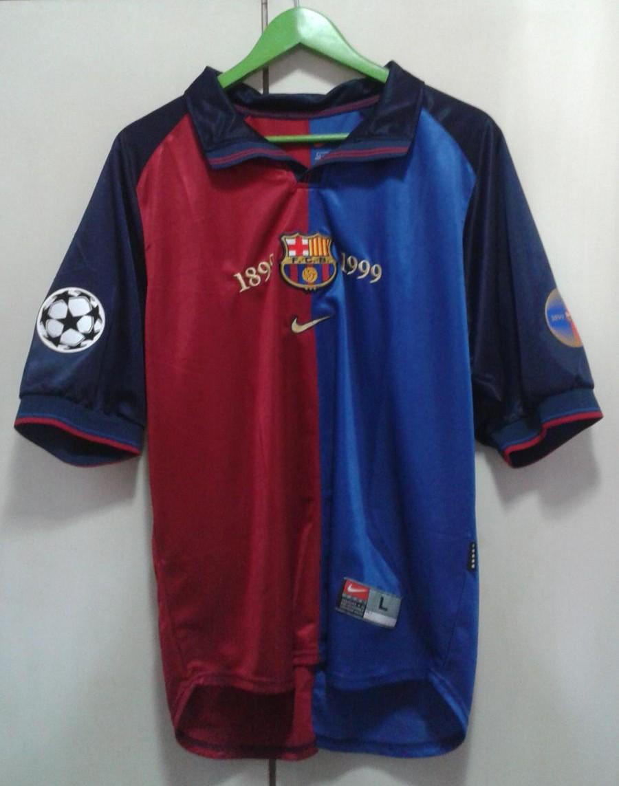new arrival fcba7 65341 Barcelona Home football shirt 1999 - 2000.