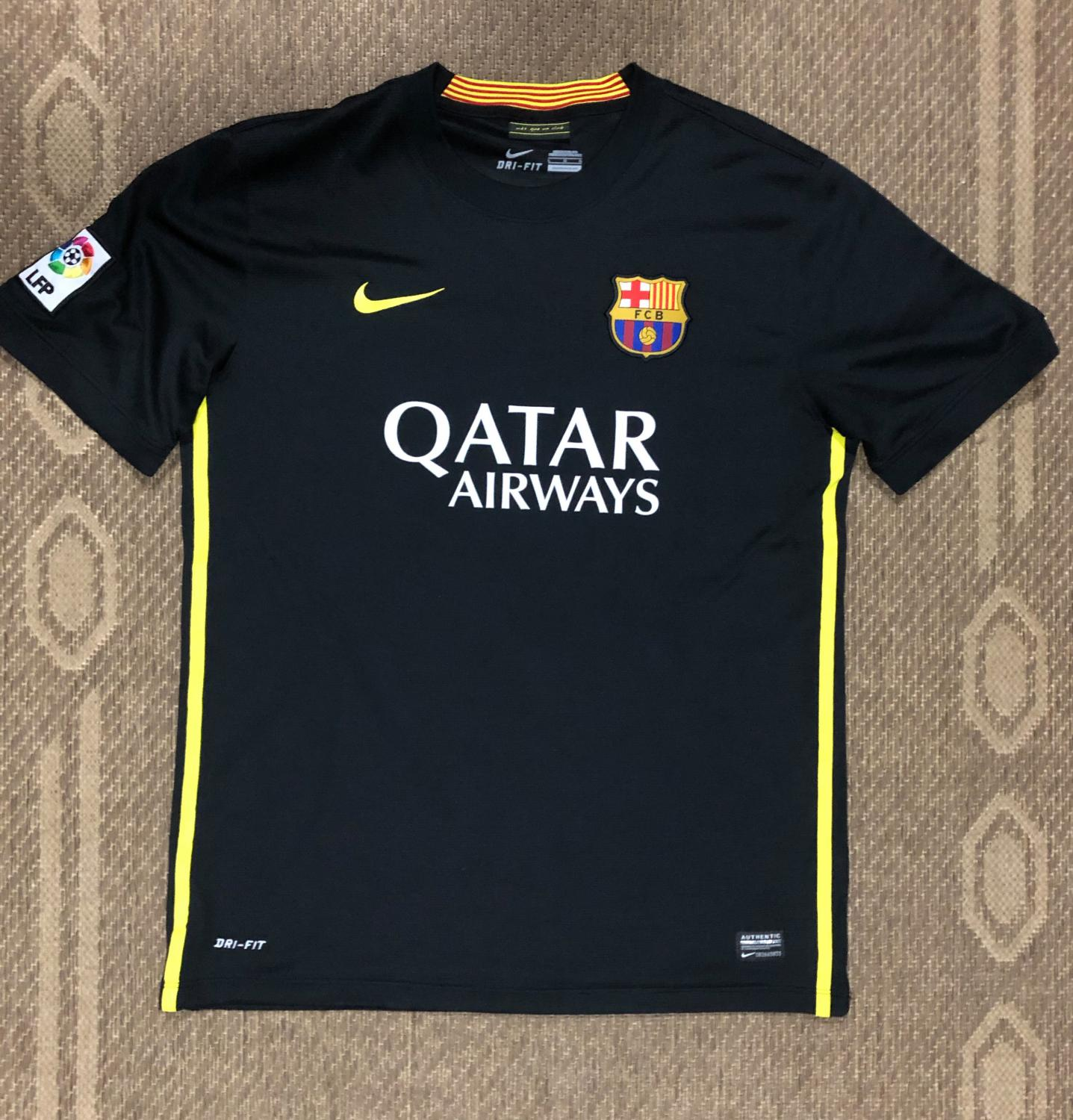 Barcelona Third Football Shirt 2013 2014 Sponsored By Qatar Airways