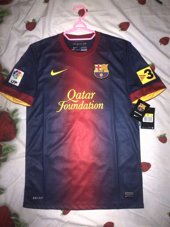 75fc58496 Barcelona Home футболка 2012 - 2013. Sponsored by Qatar Foundation
