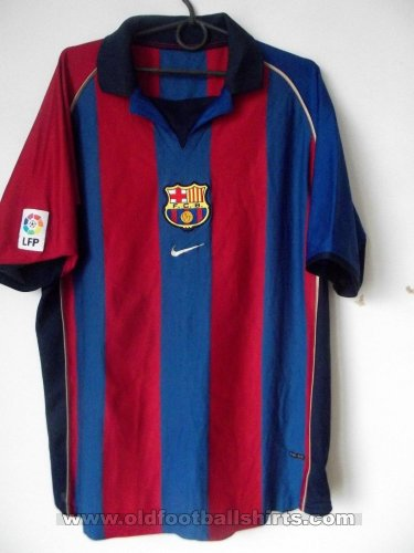Barcelona Home football shirt 2001 - 2002