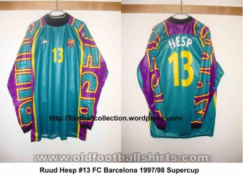 Barcelona Goalkeeper football shirt 1997 - 1998