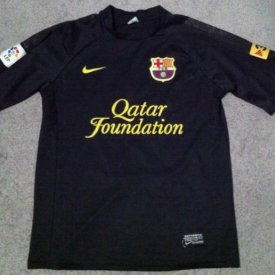 Barcelona Away football shirt 2011 - 2012 sponsored by Qatar Foundation