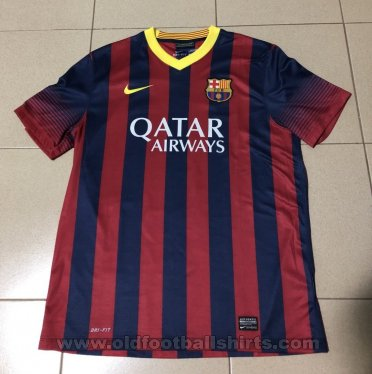 c3e8d525f8a Barcelona Home football shirt 2013 - 2014. Sponsored by Qatar Airways