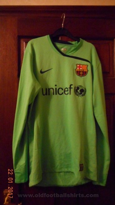 Barcelona Gardien de but Maillot de foot 2008 - 2009