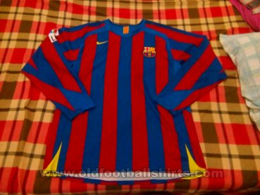 Barcelona Home football shirt 2005 - 2006