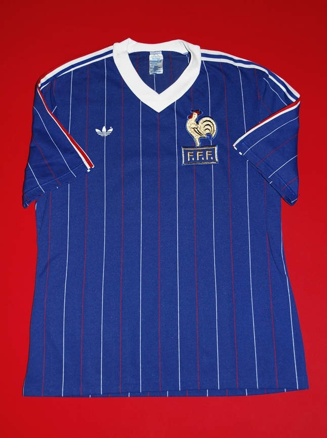 France 1984 Retro Football Shirt Vintage Maglia Calcio