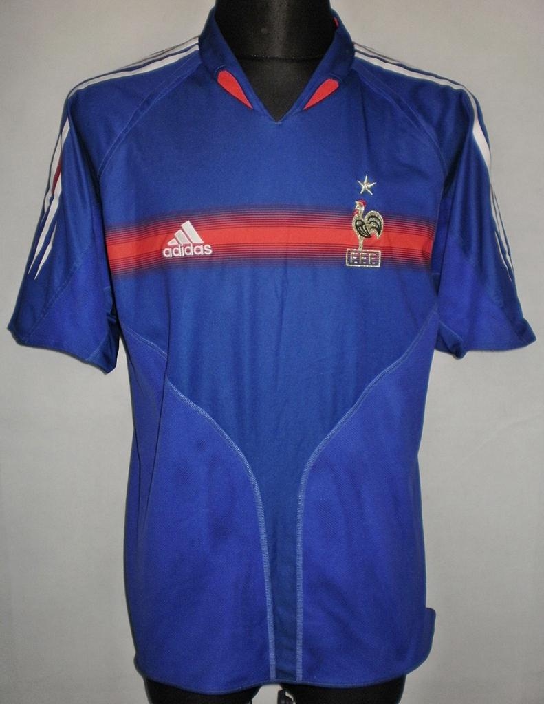 2a97e1069 France Home fotbollströja 2004 - 2006.