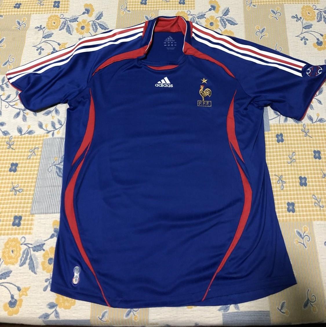 France Home football shirt 2006 - 2007.